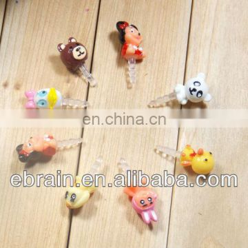 verious cartoon earphone plug,Fashion earphone Dust Plug ,promotional cartoon earphone plug