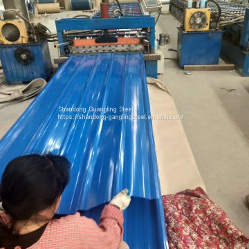 PPGI/PPGL prepainted galvanized/galvalume steel roofing sheet IBR roofing tile