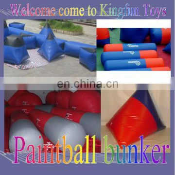 Outdoor paintball bunkers shooting game