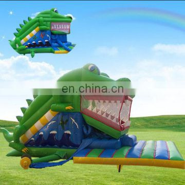 Exciting Crocodile Inflatable Slide