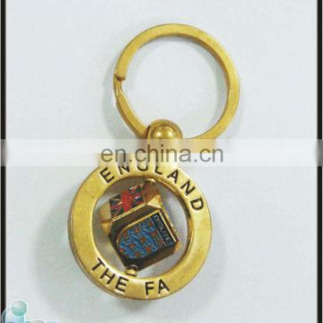 customized spinning dice england souvenirs metal keychain wholesale