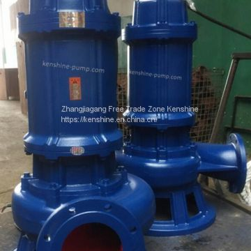 WQK Submersible sewage pump with cutting disc and semi-open impeller