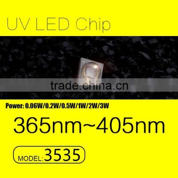 UVLED uv led price 3535 smd 365nm 0.5w with CE rohs FACTORY