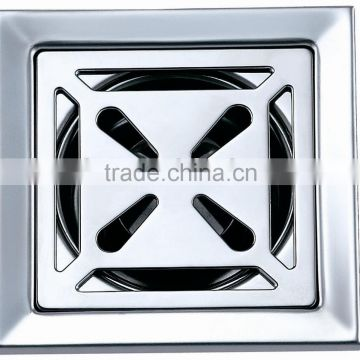 Stainless steel floor drain,square shape,100*100mm,mirror polished.B2122-1