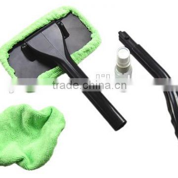 Car extendable windshield auto window cleaner washing brush with long handle and microfiber clothes