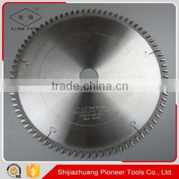 wood cutting tools 255mm 80t ATB tct saw blade for wood cutting