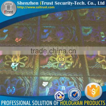 Custom hologram printer id card security / id card stickers / custom id card hologram overlay                                                                         Quality Choice