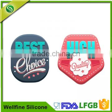 Clothing 3d silicone labelcustom silicone stickers logo factory