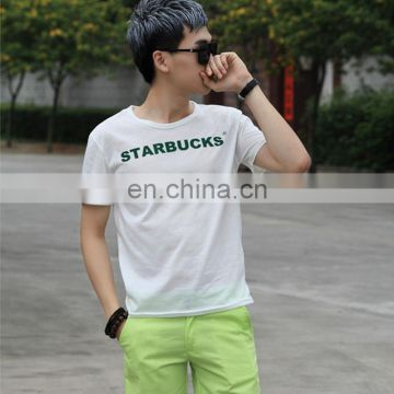 "Wholesale T-shirt Design Casual Style Printing ""Starbucks"" Sign Customization Men T shirts"