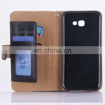 Wrist Strap PU Leather Wallet Case for Samsung Galaxy A7
