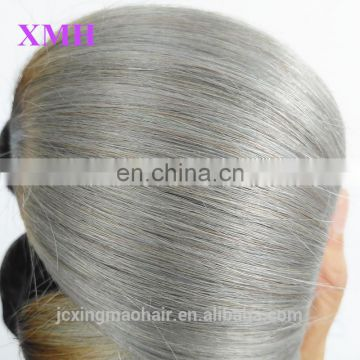 Unprocessed 8a Brazilian Virgin Hair Ombre Human Hair Sew in Weave Two Tone Color #1B/Grey