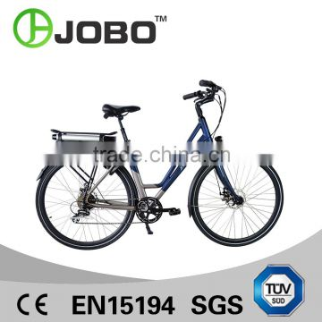 JOBO 700C Wholesale Electric City Bike Lady Electric Hybrid Bicycle