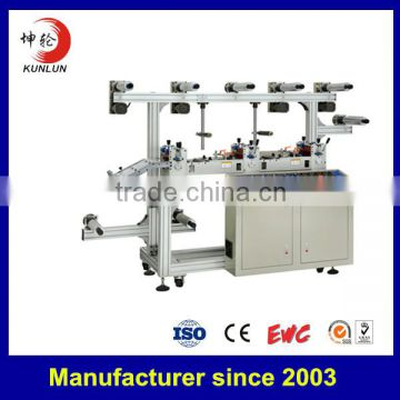 kl- -hot sale three position precision lamination and exhaust machine with conveyor belt feeding system