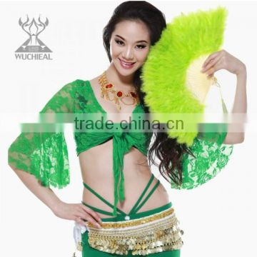 Cheap Belly Dance Turkey Feather Fans in Stage Performance for Belly Dancer DJ1029-1                                                                         Quality Choice