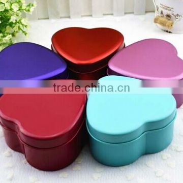 Custermized printing thick tin sheet heart shapedchocolate box