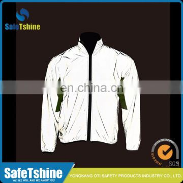 High visibility breathable reflective polyester bike jacket
