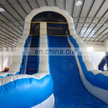Curve inflatable water slide with pool