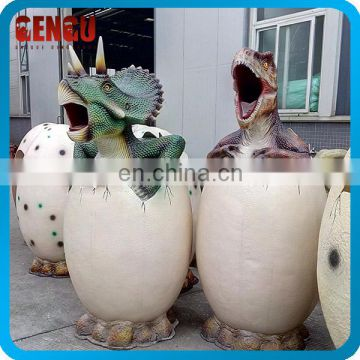 Fiberglass Dinosaur Dust Bin For Outdoor Playground