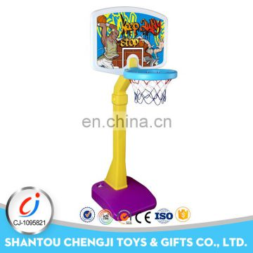 Newest sport toys portable kids plastic basketball stand outdoor