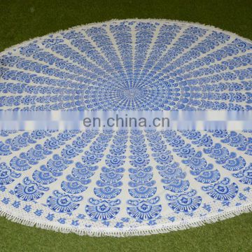 Round Tapestry for Hotel, Home, Outdoor Stylish Luxury Cotton Round Table Cover