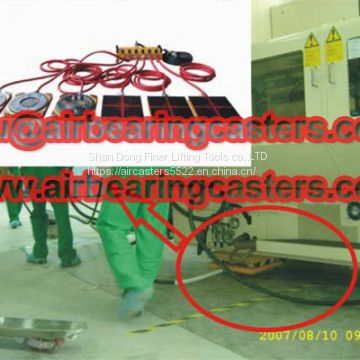 Air bearings and air casters save your cost when moving