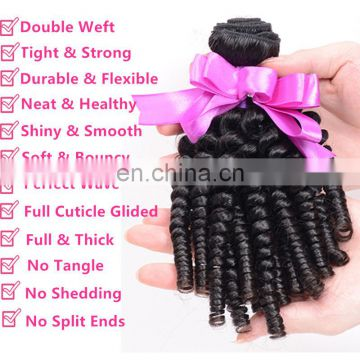 romance curl human hair Top Quality 8A funny hair egg curl hair extension Wholesale bouncy curls