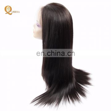 Queena Remy Hair Straight Pure Human Hair Brazilian Lace Wigs For Black Women