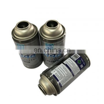 High pressure  r134a gas refrigerant aerosol tin can from factory