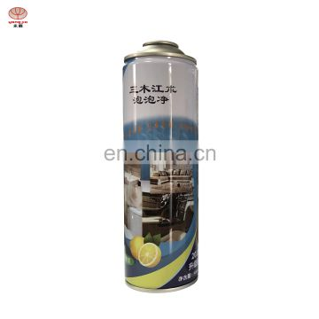 52mm/65mm Necked-in/Straight empty refillable aerosol spray paint can for Cleaner