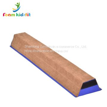 Kids gymnastic folding suede double balance beam training equipment for gymnasts