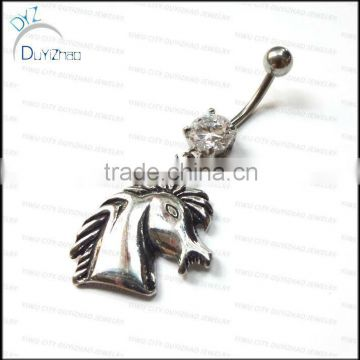 wholesale cute horse navel belly button rings piercing body jewelry