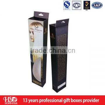 Hair Extensions Packaging Tube, Cheap Unprinted Packaging Boxes hair extension box wholesale