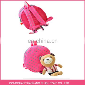 Backpack Manufacturers China Supplier Wholesale Plush Funny Teddy Bear School Backpack Bag For Children