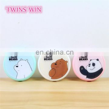 England 2018 hot sale stock design round shaped cartoon cute animal plastic eye glasses case box custom print with logo