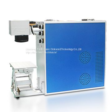 Low price desktop 20W fiber laser marking machine for metal jewelry