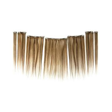 8A 9A 10A  Synthetic Hair Natural Straight Extensions Double Wefts