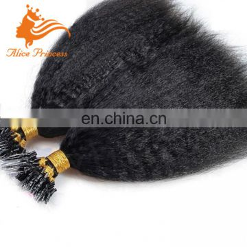 "Wholesale Kinky Straight Micro Loop Hair Extensions 10""-26"" Available Virgin Brazilian Micro Loop Ring Hair Extensions On Sale"