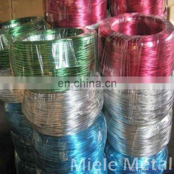 Colored aluminum wire for ornameutal handiwork