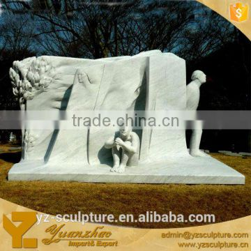 white marble relief for decoration hot sale