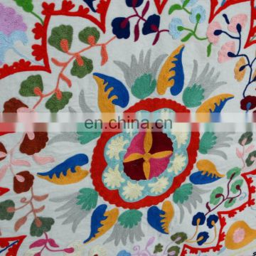 Hot Selling Gold Supplier Suzani Embroidery 100% Cotton Uzbek Designer Wall Hanging