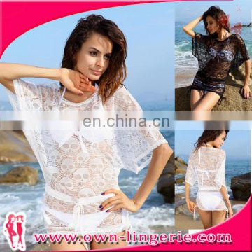 Sexy Women Swimwear Bikini Women Summer Beach Off-shoulder Women Lace Sexy Beach Dress