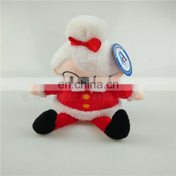 manufactory custom High quality Christmas elf plush toy cute plush doll with glasses