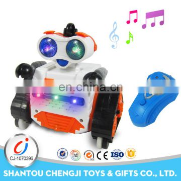 Hot sale safety plastic battery operated educational walking mobile robot