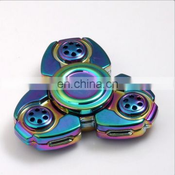 New Amazon hot selling Rainbow Color metal fidget spinner EDC Fidget spinner forbaby Relieving ADHD Anxiety and Boredom