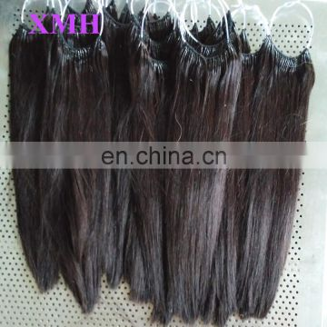 Full Ends Human Remy Cotton Thread Wwins I-tip Hair Extensions