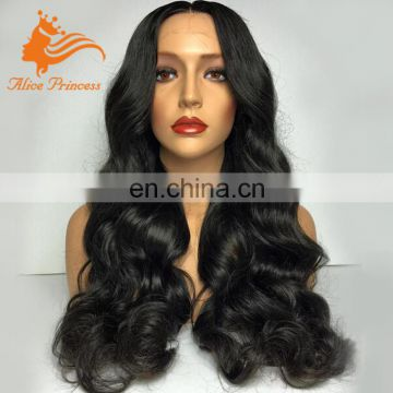 180% Density Virign Full Lace Human Hair Wig Natural Body Wave Full Lace Wig With Baby Hair