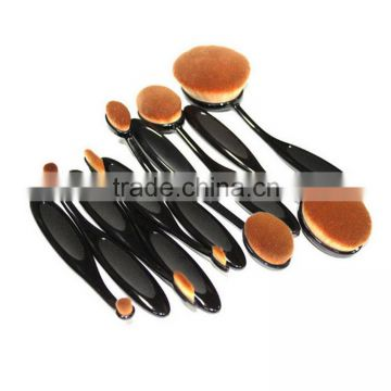 Useful Convenient portable oval makeup brush facial cleansing brush multifunctional make up brush set
