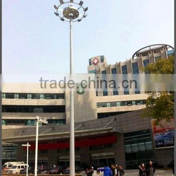 Hot sale middle mast lighting pole with galvanization and powder painting for stadium application