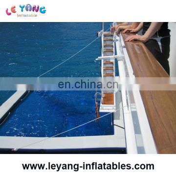 Portable Swimming Pool With Protective Anti Jellyfish Netting Enclosure / Inflatable Pool for Yachts