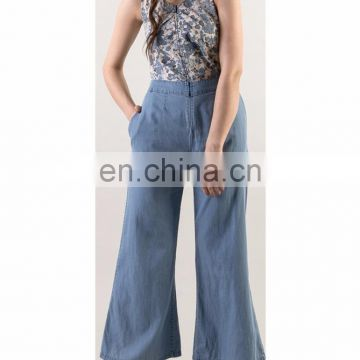 New women full length Denim Jumpsuit